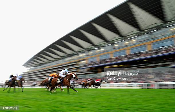 James Doyle riding Belgian Bill leading wins The Royal Hunt Cup during day two of Royal Ascot at Ascot Racecourse on June 19 2013 in Ascot England