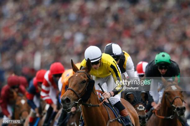 James Doyle riding Big Orange lead all the way to win The Gold Cup on day 3 'Ladies Day' of Royal Ascot at Ascot Racecourse on June 22 2017 in Ascot...