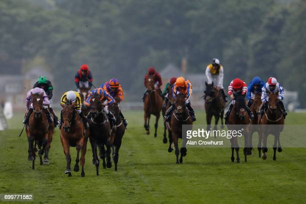 James Doyle riding Big Orange lead all the way to win The Gold Cup from Order Of St George and Ryan Moore on day 3 'Ladies Day' of Royal Ascot at...