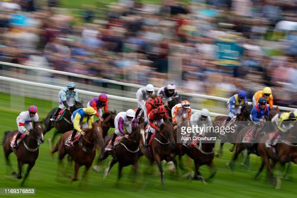 James Doyle riding Eddystone Rock on their ay to winning The Sky Bet Stakes at York Racecourse on August 21, 2019 in York, England.
