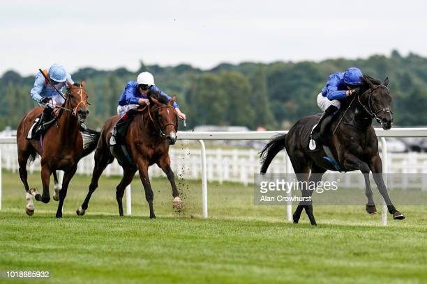 James Doyle riding Hamada win The Irish Thoroughbred Marketing Geoffrey Freer Stakes at Newbury Racecourse on August 18 2018 in Newbury United Kingdom