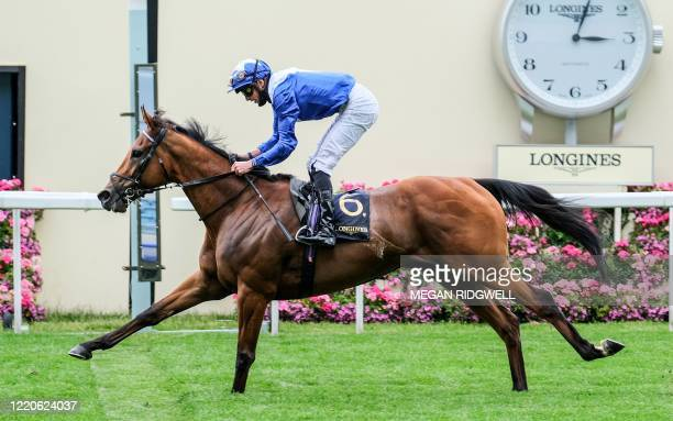 James Doyle riding Lord North rides on to win the Prince Of Wales' Stakes race on day two of the Royal Ascot horse racing meet, in Ascot, west of...