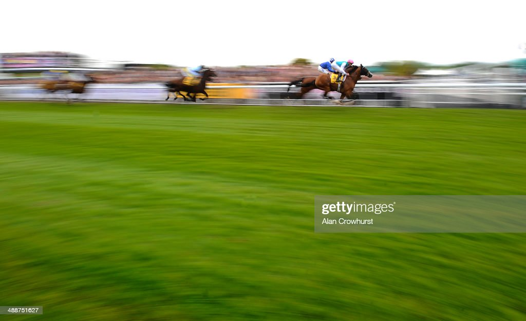 James Doyle riding Noble Mission (R) on their way to winning The Betfair Price Rush Huxley Stakes at Chester racecourse on May 08, 2014 in Chester, England.