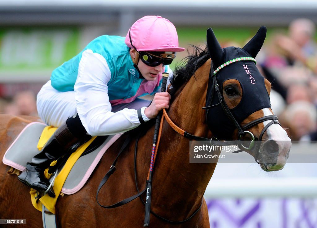 James Doyle riding Noble Mission win The Betfair Price Rush Huxley Stakes at Chester racecourse on May 08, 2014 in Chester, England.