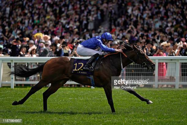 James Doyle riding Pinatubo win The Chesham Stakes on day five of Royal Ascot at Ascot Racecourse on June 22 2019 in Ascot England