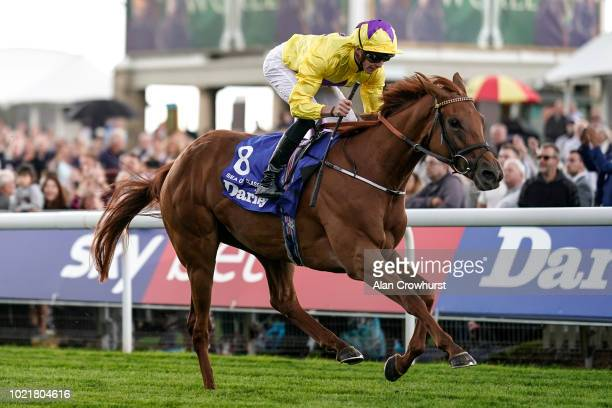 James Doyle riding Sea Of Class win The Darley Yorkshire Oaks at York Racecourse on August 23 2018 in York United Kingdom