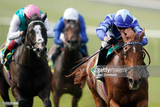 James Doyle riding Skardu win The bet365 Craven Stakes at Newmarket Racecourse on April 17, 2019 in Newmarket, England.
