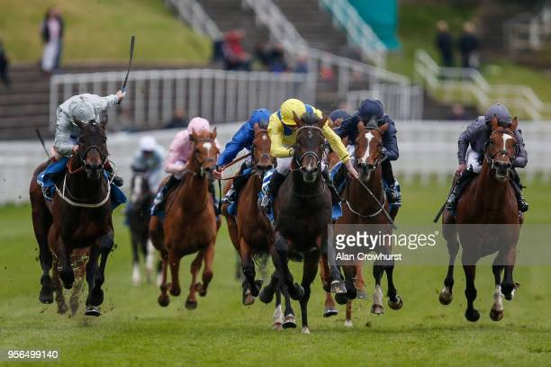 James Doyle riding Young Rascal win The Centennial Celebration MBNA Chester Vase Stakes at Chester Racecourse on May 9 2018 in Chester United Kingdom