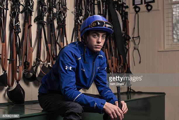 James Doyle the Godolphin Jockey poses for a picture in the tack room at the announcement of the historic partnership between Godolphin and Under...