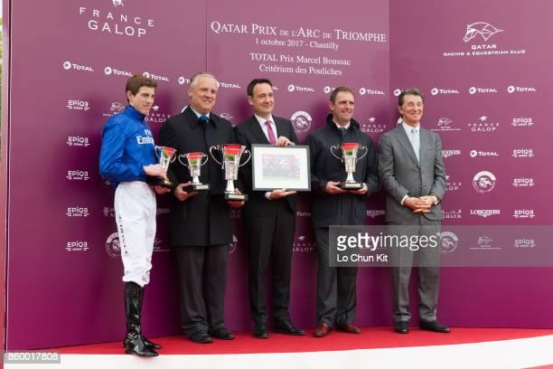 James Doyle with Wild Illusion wins the Race 1 Total Prix Marcel Boussac Criterium Des Pouliches during the Qatar Prix de l'Arc de Triomphe Race Day...