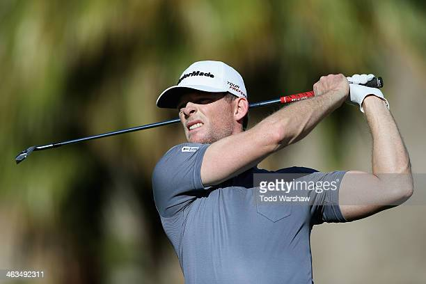 James Driscoll hits a shot at the eleventh hole during the third round of the Humana Challenge in partnership with the Clinton Foundation on the Jack...