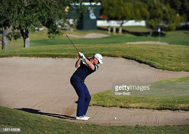 James Driscoll hits a shot to the ninth green during the first round of the Shriners Hospitals for Children Open at TPC Summerlin on October 17 2013...