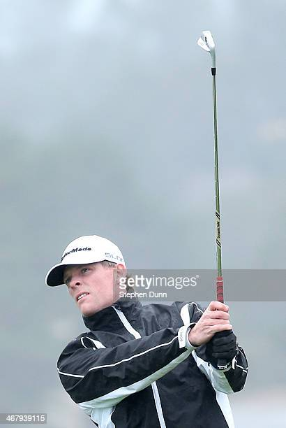 James Driscoll hits a tee shot from the seventh hole during the third round of the ATT Pebble Beach National ProAm at the Pebble Beach Golf Links on...