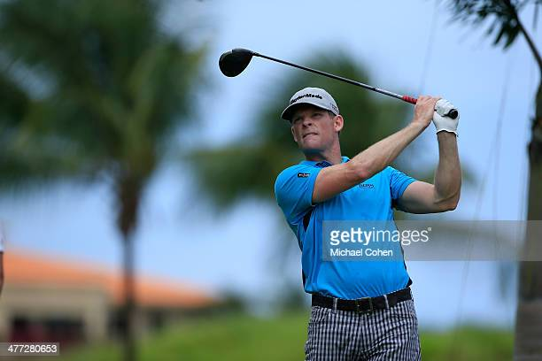 James Driscoll hits his drive on the second hole during the third round of the Puerto Rico Open presented by seepuertoricocom held at Trump...