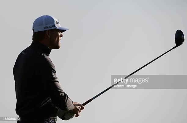 James Driscoll makes a tee shot on the fourth hole during round one of the Fryscom Open at the CordeValle Golf Club on October 10 2013 in San Martin...