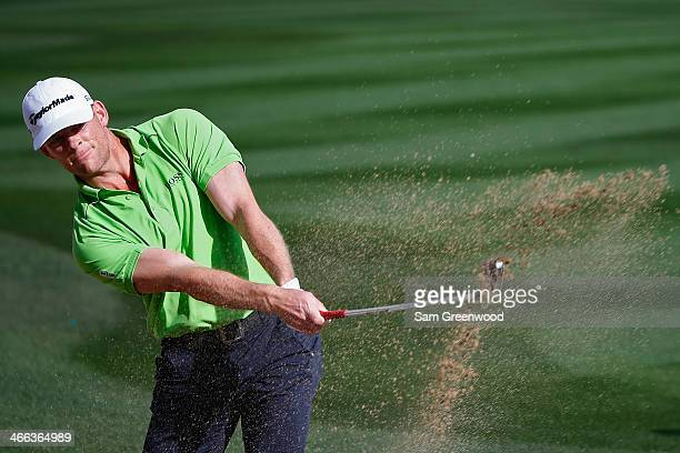 James Driscoll plays a shot on the 2nd hole during the third round of the Waste Management Phoenix Open at TPC Scottsdale on February 1 2014 in...