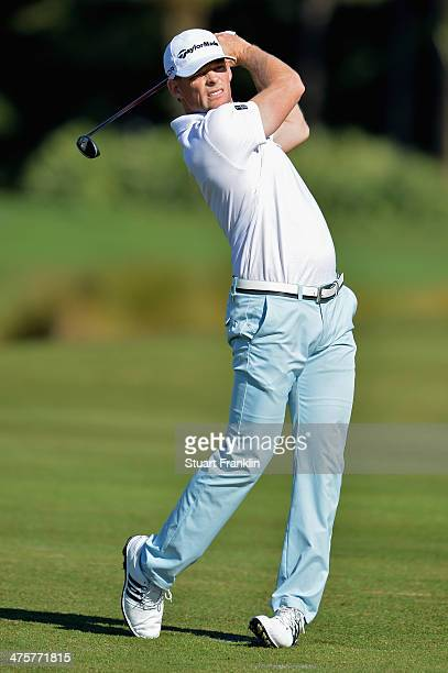 James Driscoll plays a shot on the third hole during the third round of The Honda Classic at PGA National Resort and Spa on March 1 2014 in Palm...