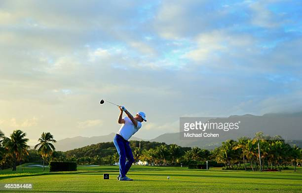 James Driscoll plays his shot from the first tee during round two of the Puerto Rico Open presented by Banco Popular on March 6 2015 in Rio Grande...