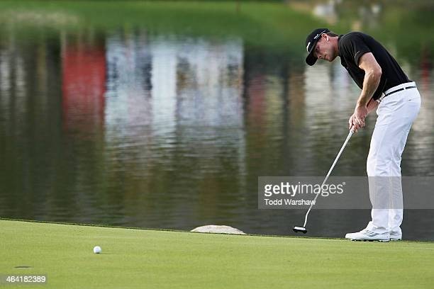 James Driscoll putts on the 18th green during the final round of the Humana Challenge in partnership with the Clinton Foundation on the Arnold Palmer...
