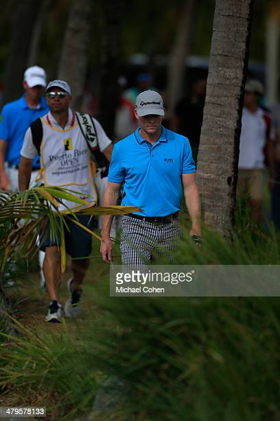 James Driscoll walks to the fairway during the third round of the Puerto Rico Open presented by seepuertoricocom held at Trump International Golf...