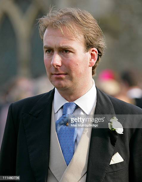 James DuckworthChad attends the wedding of his brother William DuckworthChad and Lucy Greenwell at All Saints Church Sudbourne on April 2 2011 in...