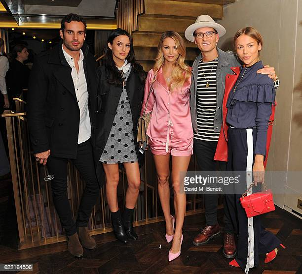 James Dumore Lucy Watson Sophie Hermann Oliver Proudlock and Emma Connolly attend 5Years of Gazelli SkinCare on November 10 2016 in London England