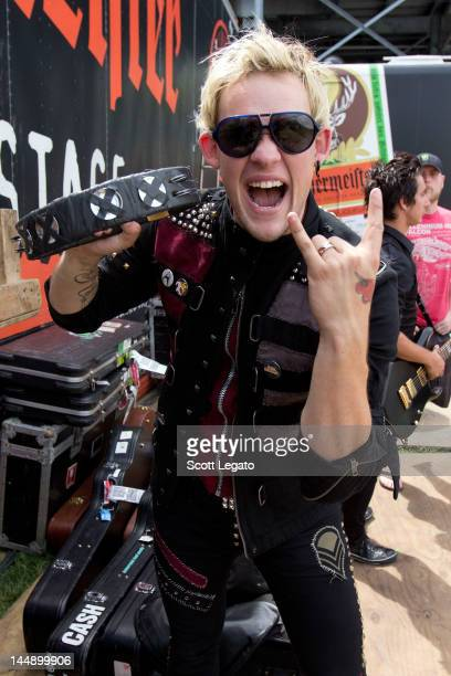 James Durbin poses backstage during the 2012 Rock On The Range festival at Crew Stadium on May 20 2012 in Columbus Ohio