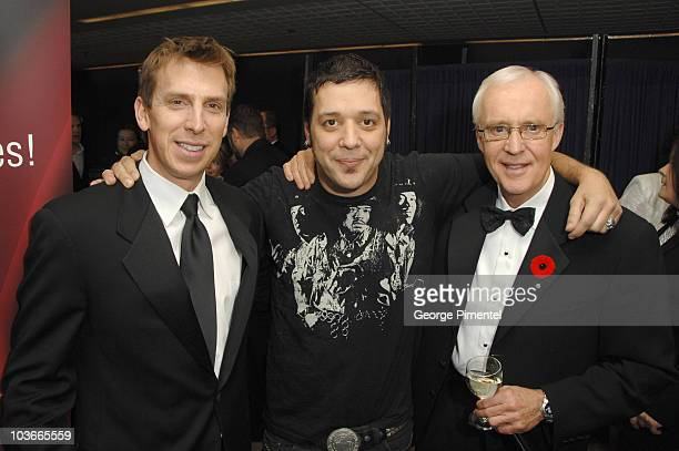 James Duthie from TSN/ George Stroumboulopoulos host and Brian Williams sports host attends The 22nd Annual Gemini Awards at the Conexus Arts Centre...