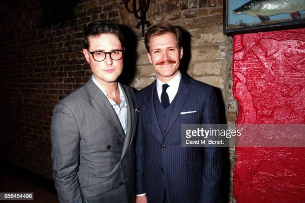 James Dutton and George Kemp attend the press night after party for The Wipers Times at Salvador Amanda on March 27 2017 in London England