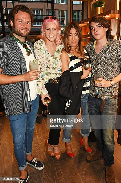 James E HarveyKelly India Rose James Mimi Nishikawa and Sascha Bailey attend the first Oliver Peoples boutique launch in Europe on September 14 2016...