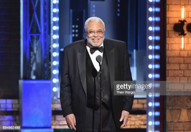 James Earl Jones accepts the Special Tony Award for Lifetime Achievement in the Theatre onstage during the 2017 Tony Awards at Radio City Music Hall...