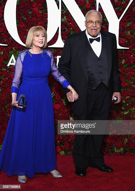 James Earl Jones and Cecilia Hart attend 70th Annual Tony Awards Arrivals at Beacon Theatre on June 12 2016 in New York City
