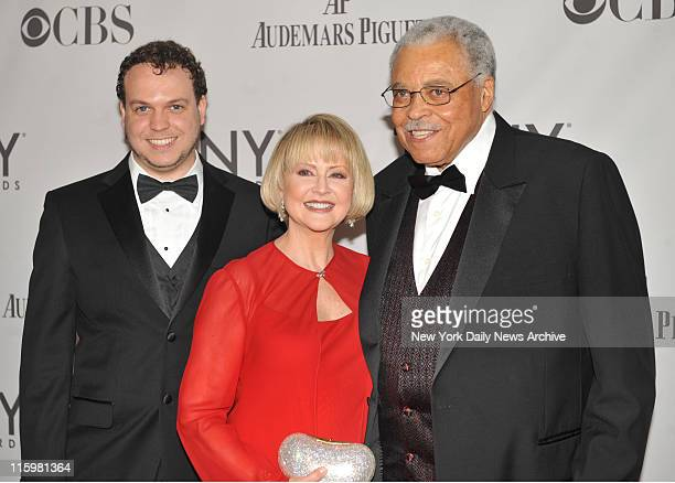 James Earl Jones and family wife Cecelia Hart and son Flynn Earl Jones arrive at the '2011 Tony Awards' held at the Beacon Theater