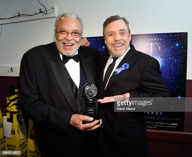 James Earl Jones and Mark Hamill attend the 2017 Tony Awards at Radio City Music Hall on June 11 2017 in New York City