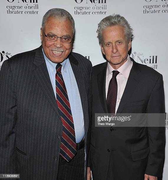 James Earl Jones and Michael Douglas attend the 11th annual Monte Cristo awards at Bridgewayers on May 9 2011 in New York City