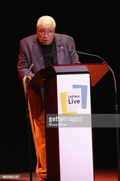 James Earl Jones performs in the New York debut of the hit show 'Letters Live' at Town Hall on May 19 2018 in New York City