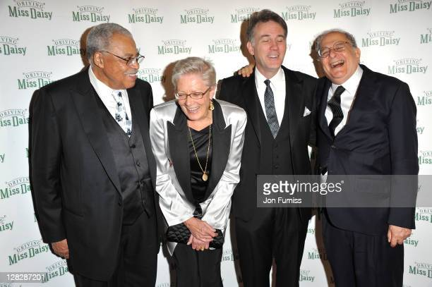 James Earl Jones, Vanessa Redgrave, Boyd Gaines and Alfred Uhry attends the after party for the opening of Driving Miss Daisy at RAC Club on October...