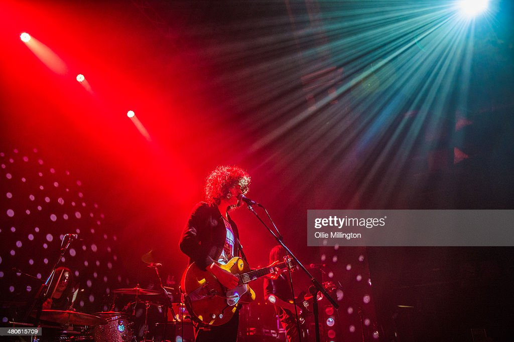 James Edward Bagshaw and Thomas Edison Warmsley of Temples perform onstage at the NME Awards Tour Show at The Institute on March 25, 2014 in Birmingham, England.