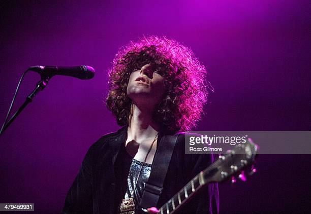 James Edward Bagshaw of Temples performs on stage for the 2014 NME Awards Tour at O2 Academy on March 18, 2014 in Glasgow, United Kingdom.