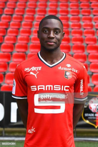 James Edward Lea Siliki during photoshooting of Stade Rennais for new season 2017/2018 on September 19 2017 in Rennes France