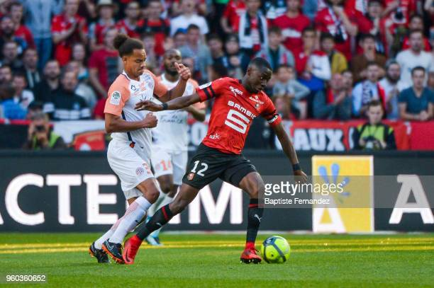 James Edward Lea Skiliki of Rennes during the Ligue 1 match between Stade Rennes and Montpellier Herault SC at Roazhon Park on May 19 2018 in Rennes