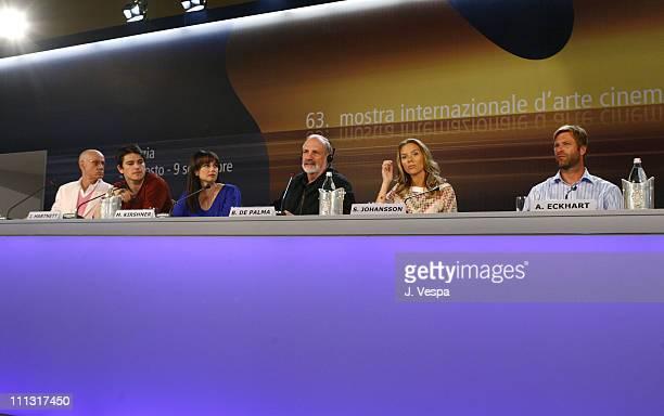 James Ellroy author Josh Hartnett Mia Kirshner Brian De Palma director Scarlett Johansson and Aaron Eckhart