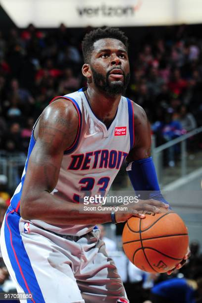 James Ennis III of the Detroit Pistons shoots the ball against the Atlanta Hawks on February 11 2018 at Philips Arena in Atlanta Georgia NOTE TO USER...