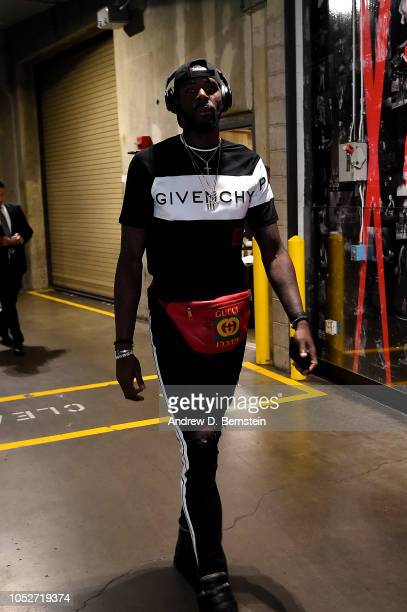 James Ennis III of the Houston Rockets arrives to the game against the LA Clippers on October 21 2018 at Staples Center in Los Angeles California...