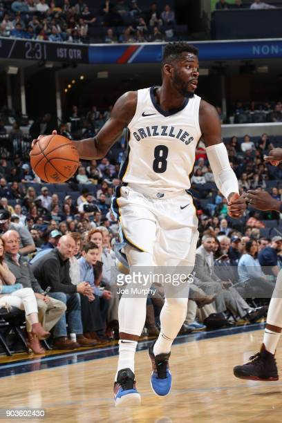 James Ennis III of the Memphis Grizzlies handles the ball against the New Orleans Pelicans on January 10 2018 at FedExForum in Memphis Tennessee NOTE...