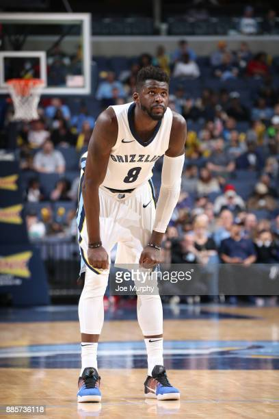 James Ennis III of the Memphis Grizzlies looks on during the game against the Minnesota Timberwolves on December 4 2017 at FedEx Forum in Memphis...
