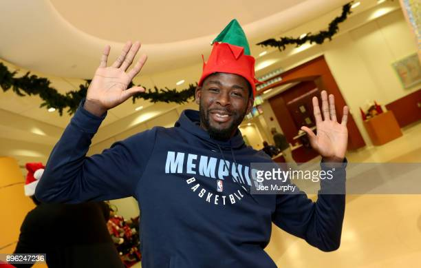 James Ennis III of the Memphis Grizzlies visits with children on December 18 2017 at LeBonheur Children's Hospital in Memphis Tennessee NOTE TO USER...
