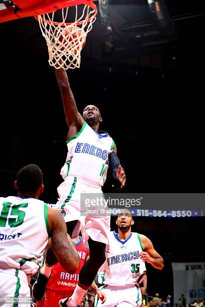 James Ennis of the Iowa Energy drives to the basket against the Grand Rapids Drive in an NBA DLeague game on January 15 2016 at the Wells Fargo Arena...