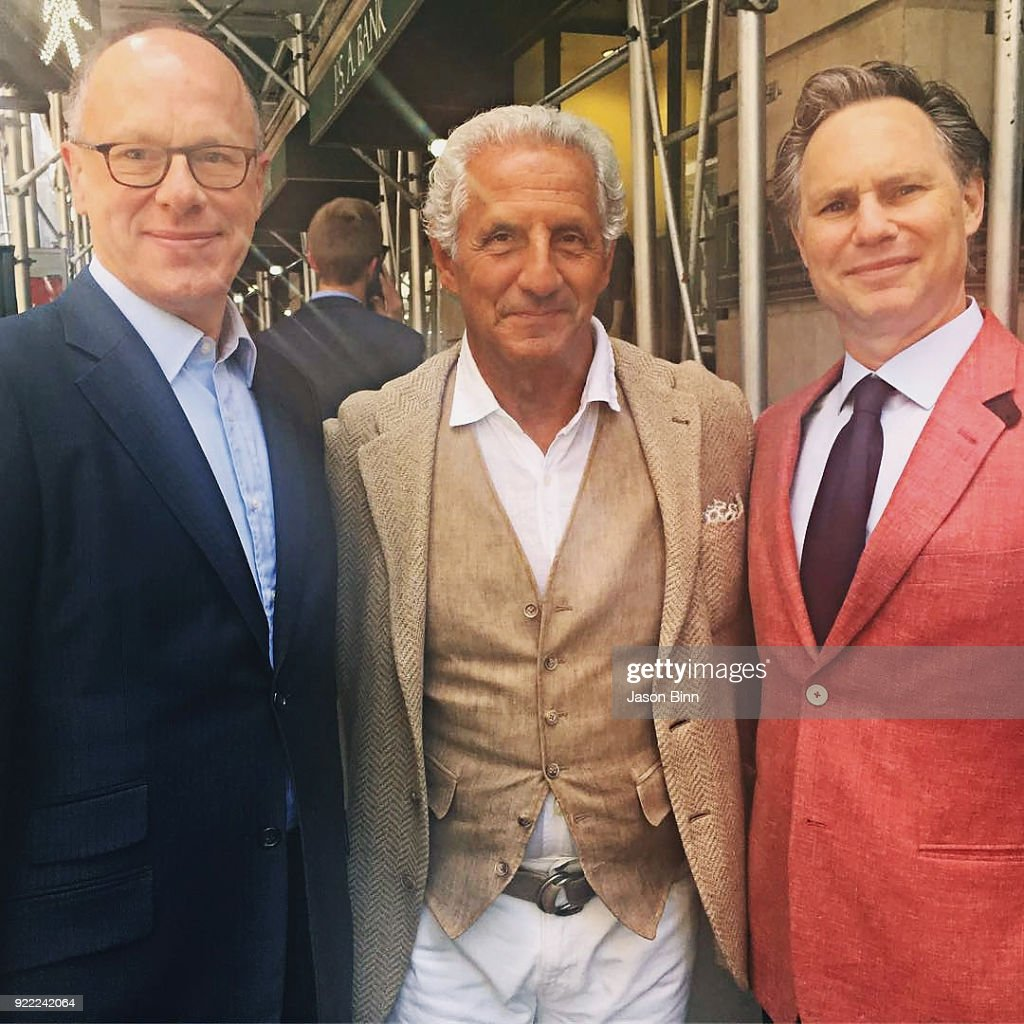 James Fallon, Joseph Abboud, and Jason Binn circa Fall/Winter 2017 in New York City.