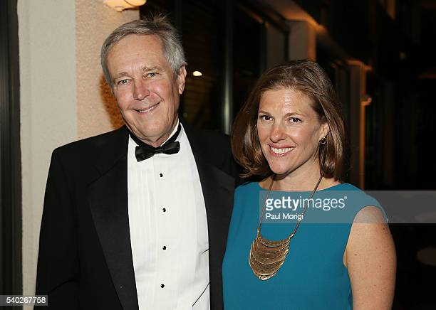 James Fallows and Emily Lenzner of The Atlantic at the grand reopening party of the iconic Watergate Hotel on June 14 2016 in Washington DC